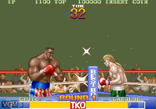 In-game screen of the game Best Bout Boxing on MAME