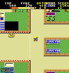 In-game screen of the game Kamikaze Cabbie on MAME