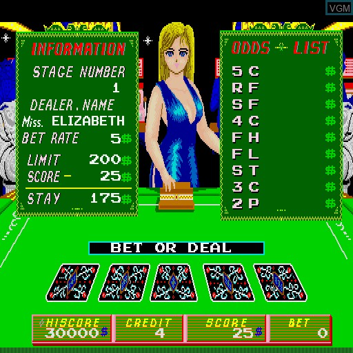 In-game screen of the game Untouchable on MAME