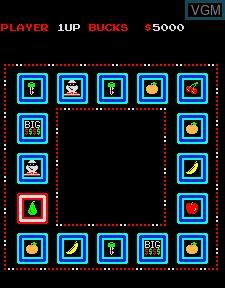 In-game screen of the game Big Bucks on MAME