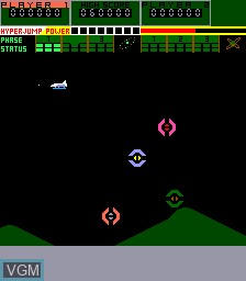 In-game screen of the game A. D. 2083 on MAME