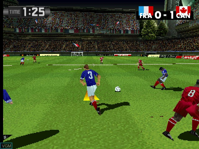 In-game screen of the game Libero Grande on MAME