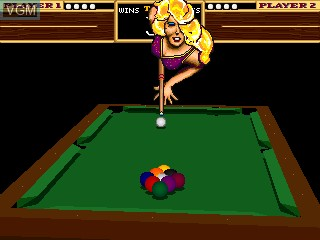 In-game screen of the game 9-Ball Shootout! on MAME