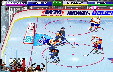 In-game screen of the game 2 on 2 Open Ice Challenge on MAME