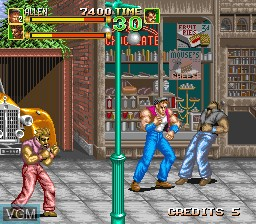 In-game screen of the game 64th. Street - A Detective Story on MAME