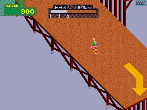 In-game screen of the game 720 Degrees on MAME