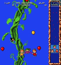 In-game screen of the game Angel Kids on MAME