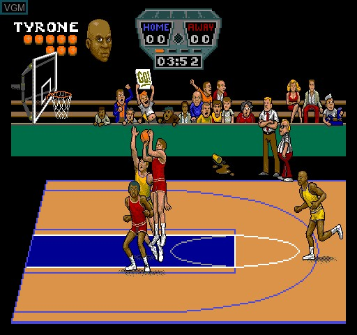 In-game screen of the game Arch Rivals on MAME