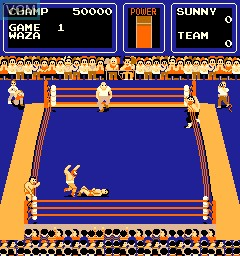 In-game screen of the game Big Pro Wrestling!, The on MAME