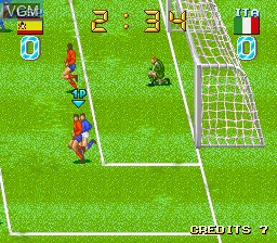 In-game screen of the game Big Striker on MAME
