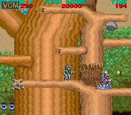 In-game screen of the game Bionic Commando on MAME