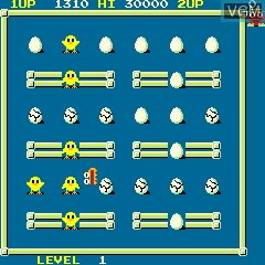 In-game screen of the game Eggs on MAME