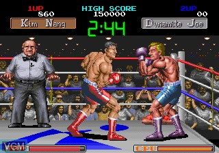 In-game screen of the game Final Blow on MAME