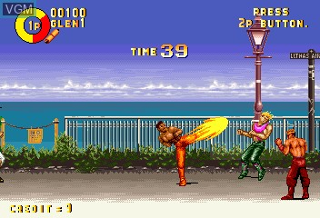 In-game screen of the game Karate Blazers on MAME