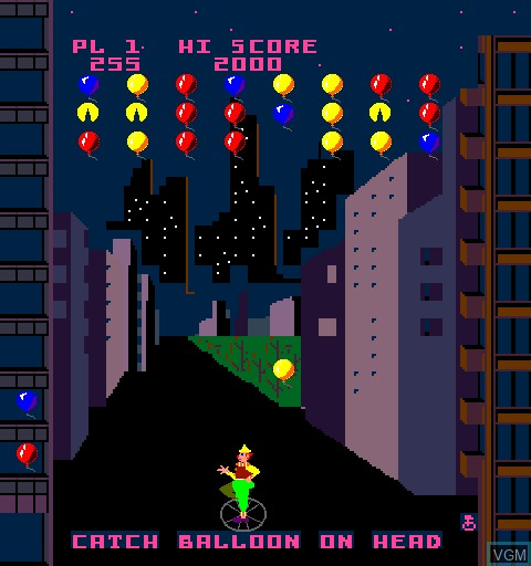 In-game screen of the game Kick on MAME