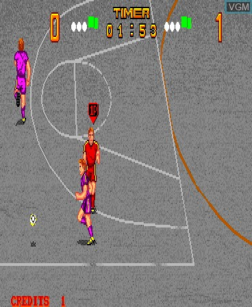 In-game screen of the game Kick Goal on MAME
