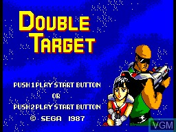 Title screen of the game Double Target on Sega Master System