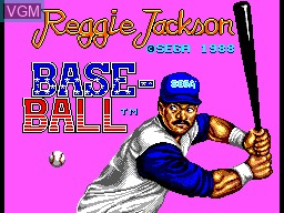 Title screen of the game Reggie Jackson Baseball on Sega Master System