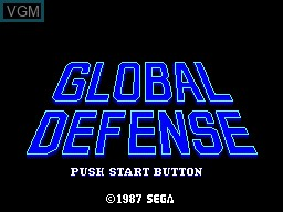 Title screen of the game Global Defense on Sega Master System