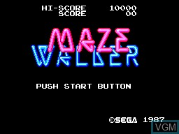 Title screen of the game Maze Walker on Sega Master System