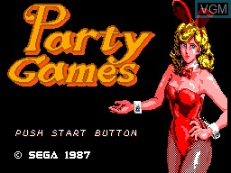 Title screen of the game Party Games on Sega Master System