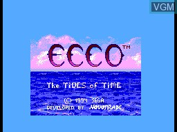 Title screen of the game Ecco the Dolphin - Tides of Time on Sega Master System