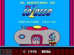 Title screen of the game As Aventuras da TV Colosso on Sega Master System