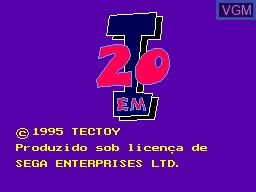 Title screen of the game 20-em-1 on Sega Master System