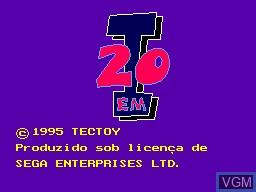 Title screen of the game 20-em-1 on Sega Master System