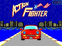 Title screen of the game Action Fighter on Sega Master System