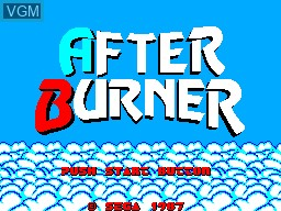 Title screen of the game After Burner on Sega Master System