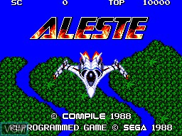 Title screen of the game Aleste on Sega Master System