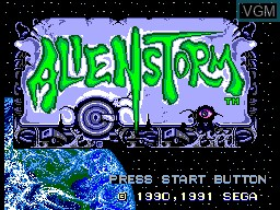 Title screen of the game Alien Storm on Sega Master System