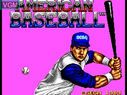 Title screen of the game American Baseball on Sega Master System