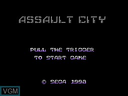 Title screen of the game Assault City - Pad Version on Sega Master System