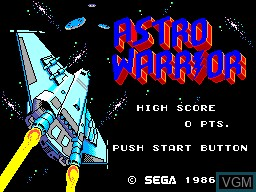 Title screen of the game Astro Warrior on Sega Master System