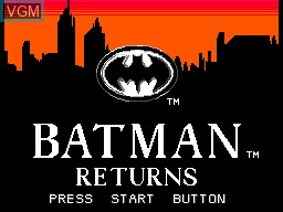 Title screen of the game Batman Returns on Sega Master System