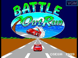 Title screen of the game Battle Out Run on Sega Master System