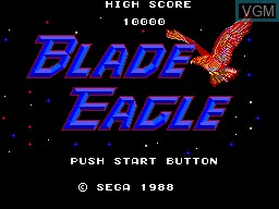 Title screen of the game Blade Eagle 3D on Sega Master System