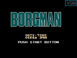 Title screen of the game Chouon Senshi Borgman on Sega Master System