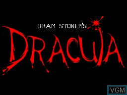Title screen of the game Bram Stoker's Dracula on Sega Master System