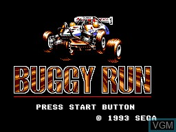 Title screen of the game Buggy Run on Sega Master System
