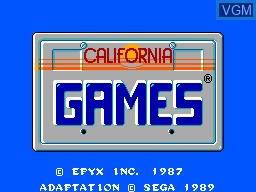 Title screen of the game California Games on Sega Master System