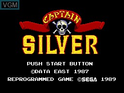 Title screen of the game Captain Silver on Sega Master System