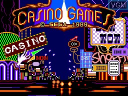 Title screen of the game Casino Games on Sega Master System