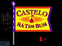Title screen of the game Castelo Ra Tin Bum on Sega Master System