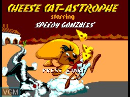 Title screen of the game Cheese Cat-astrophe on Sega Master System