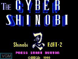 Title screen of the game Cyber Shinobi on Sega Master System