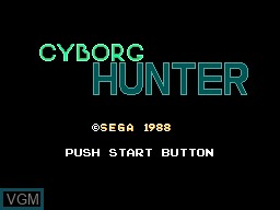 Title screen of the game Cyborg Hunter on Sega Master System
