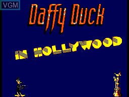 Title screen of the game Daffy Duck in Hollywood on Sega Master System